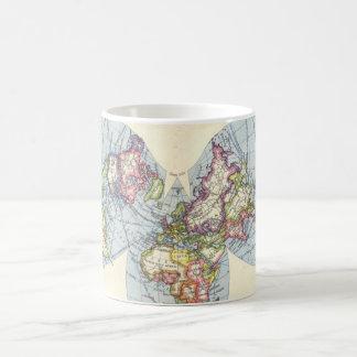 Bartholomew Kite Projection World Map - Customized Classic White Coffee Mug