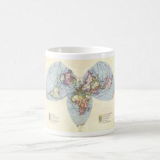 Bartholomew Kite Projection World Map Classic White Coffee Mug