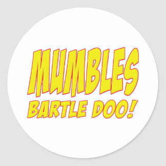 Bartle Doo Mumbles Skippy Classic Round Sticker