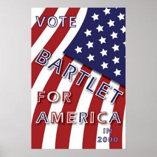 Bartlet para el poster de América