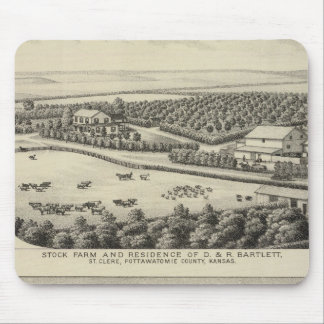 Bartlett and Roberts Residences and Farms, Kansas Mouse Pad