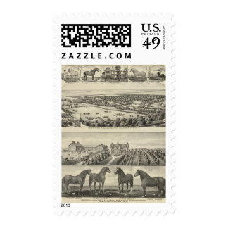 Bartlett and Roberts Residences and Farms, Kansas Postage Stamp