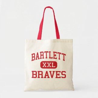 Bartlett - Braves - Middle - Savannah Georgia Tote Bags