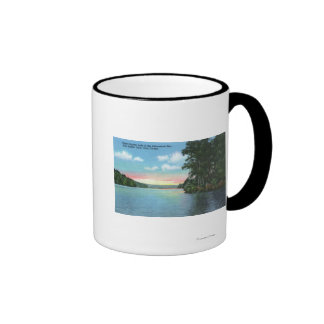Bartlett Carry Club View of Upper Saranac Lake Ringer Coffee Mug