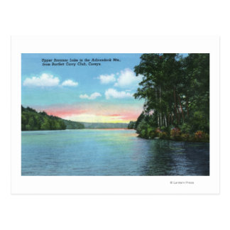 Bartlett Carry Club View of Upper Saranac Lake Postcard