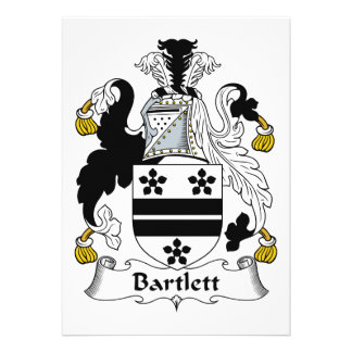 Bartlett Family Crest Personalized Invites