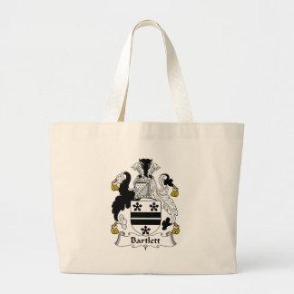 Bartlett Family Crest Large Tote Bag