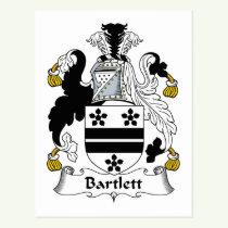 Bartlett Family Crest Postcard