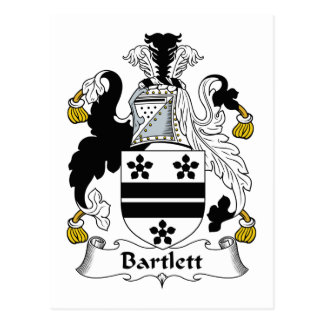 Bartlett Family Crest Postcard