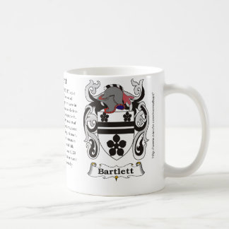 Bartlett, the origin, meaning and the crest coffee mug