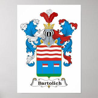 "Bartolich Family Hungarian Coat of Arms 11x15"" Pri Poster"