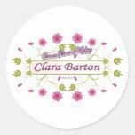 Barton ~ Clara Barton / Famous USA Women Round Stickers