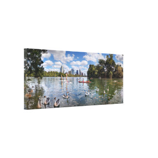 Barton Creek at Lady Bird Lake - Austin, Texas Canvas Print