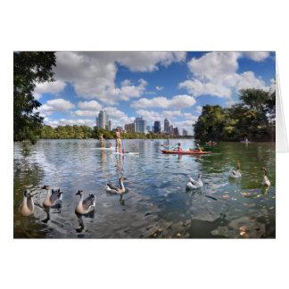 Barton Creek at Lady Bird Lake - Austin, Texas Card
