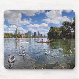 Barton Creek at Lady Bird Lake - Austin, Texas Mouse Pad