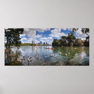Barton Creek at Lady Bird Lake - Austin, Texas Poster