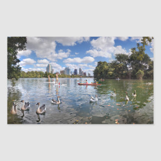 Barton Creek at Lady Bird Lake - Austin, Texas Rectangular Sticker