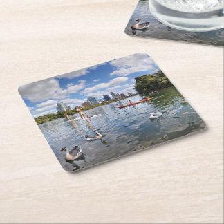 Barton Creek at Lady Bird Lake - Austin, Texas Square Paper Coaster