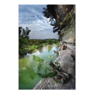 Barton Creek Cliffs - Austin Texas Photograph