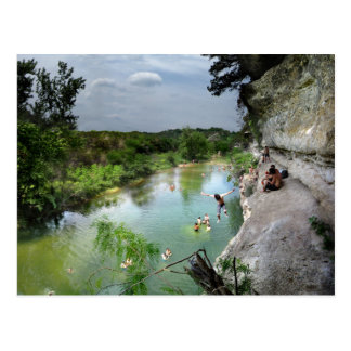 Barton Creek Cliffs - Austin Texas Postcard