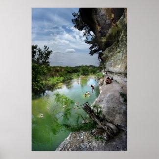 Barton Creek Cliffs - Austin Texas Poster