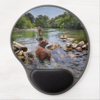 Barton Creek Dog Paparazzi - Austin Texas Gel Mouse Pad