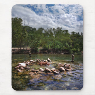 Barton Creek Dog Swimming Hole - Austin Texas Mouse Pad