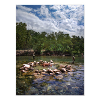 Barton Creek Dog Swimming Hole - Austin Texas Photo Print