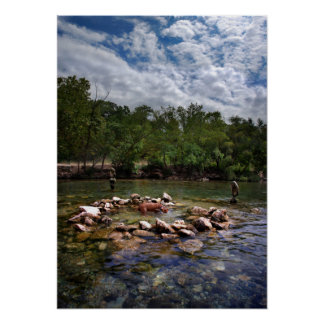 Barton Creek Dog Swimming Hole - Austin Texas Posters
