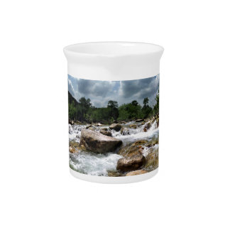 Barton Creek Greenbelt Waterfalls - Austin, Texas Drink Pitcher
