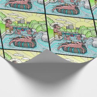 Barton Creek Salamanders Color Design Wrapping Paper