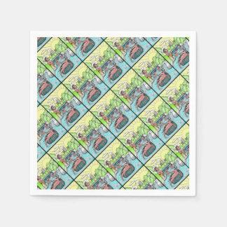 Barton Creek Salamanders Color Paper Napkin