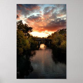 Barton Creek Sunset - Austin Texas Poster