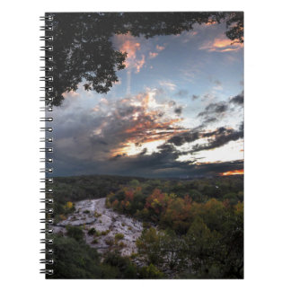 Barton Creek Sunset - Austin, Texas Spiral Notebook