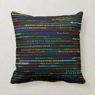 Barton Creek Text Design I Throw Pillow