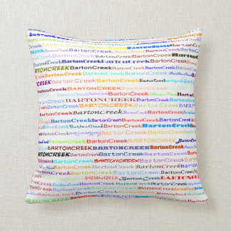 Barton Creek Text Design II Throw Pillow