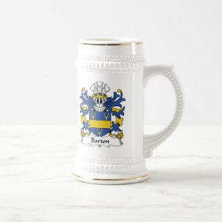 Barton Family Crest Beer Stein