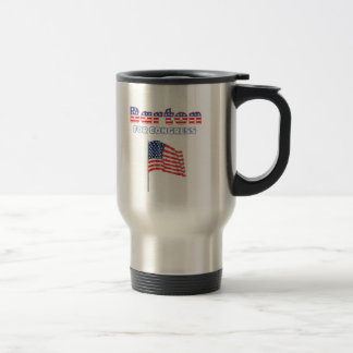 Barton for Congress Patriotic American Flag Travel Mug