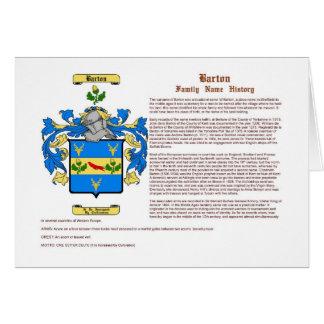 Barton (historia) tarjeta de felicitación