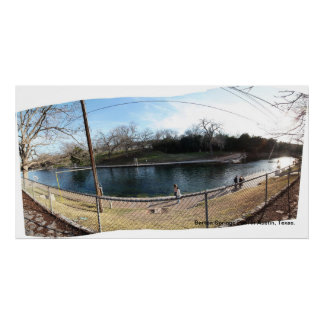 Barton Springs Pool Panoramic Print