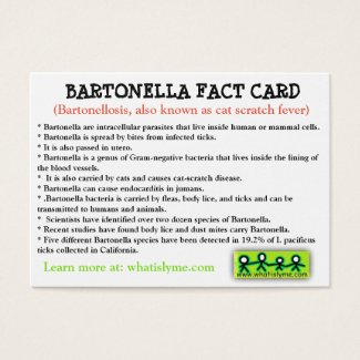 Bartonella Fact Card
