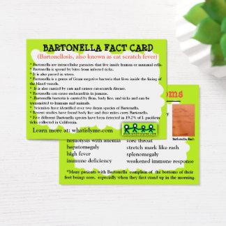 Bartonella Fact Educational Card