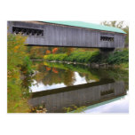 Bartonsville Covered Bridge Vermont Reflection Postcards