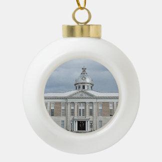 Bartow Timepiece Ceramic Ball Christmas Ornament