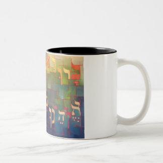Baruch ata hashem Elokeinu Melech Haolam Two-Tone Coffee Mug