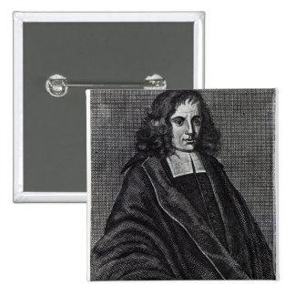 Baruch de Spinoza Pin Cuadrado