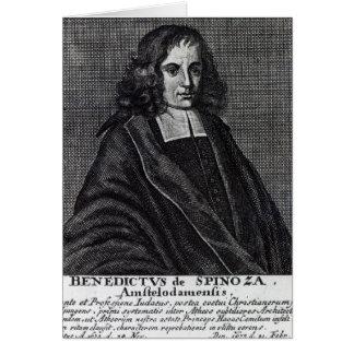 Baruch de Spinoza Tarjeta De Felicitación