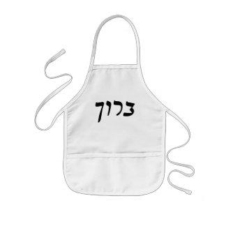 Baruch - escritura de Rashi del hebreo Delantal Infantil