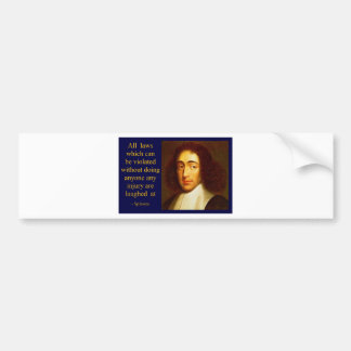 Baruch Spinoza Bumper Sticker