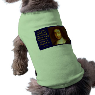 Baruch Spinoza Playera Sin Mangas Para Perro